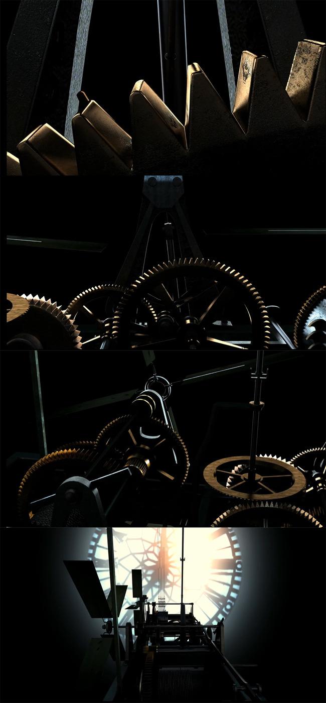 高清时钟内部机械转动视频素材