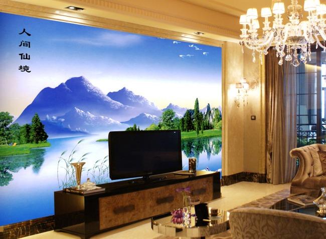 風景電視背景墻-電視背景墻-電視背景墻