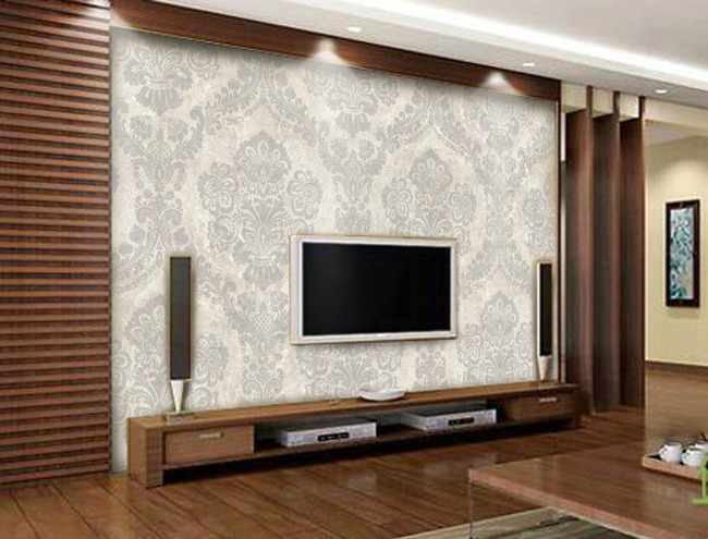 心形欧花简约木质电视背景墙-欧式电视背景墙-电视