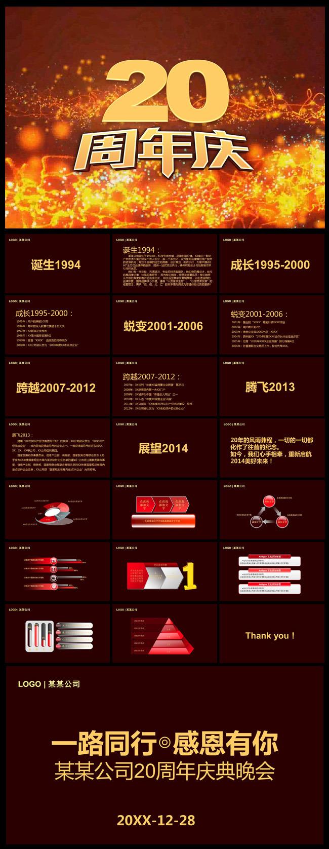 公司周年庆ppt模板-节日|民俗|传统ppt模板-ppt模板
