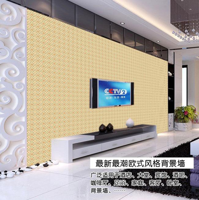 欧式花纹电视背景墙欧式花纹墙纸-壁纸|墙画壁纸