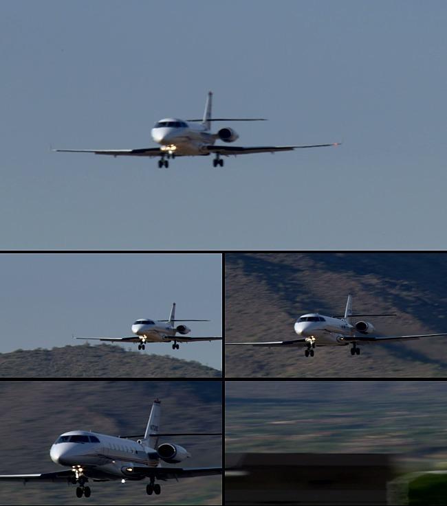 飞机降落前飞行视频素材