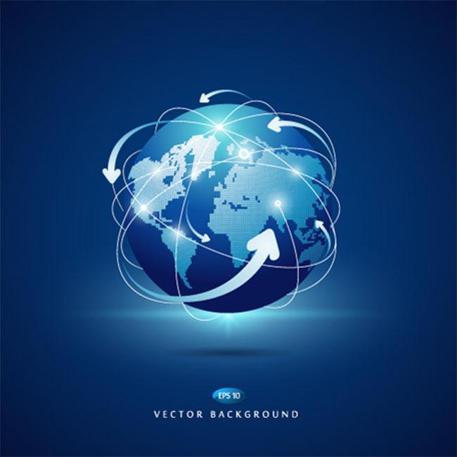蓝色科技地球背景素材下载-其他海报设计-海报设计