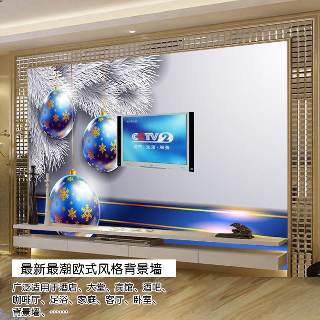 圣诞欧式电视背景墙