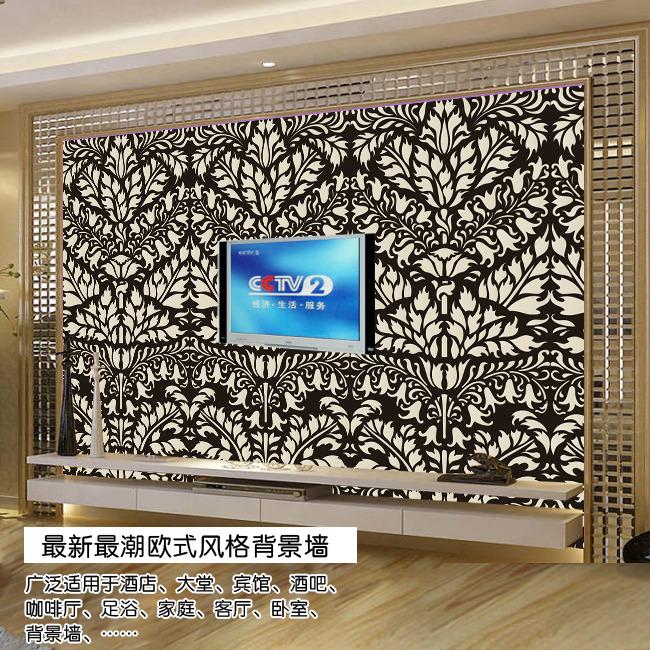 图片名称:欧式古典花纹电视背景墙