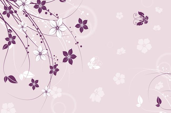 简约时尚线条花纹背景墙装饰画