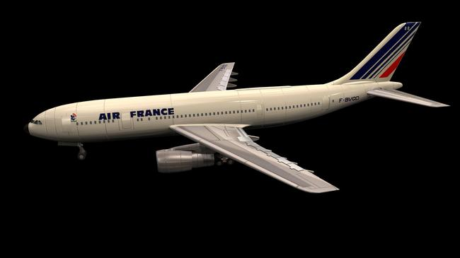 3dmax客机模型