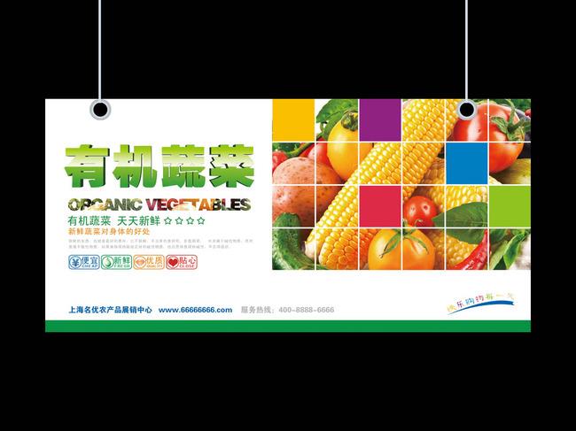 蔬菜专营店导视展板设计