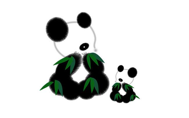 国宝大熊猫卡通图片