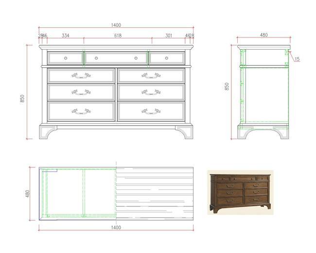 美式家具图纸木工制作图
