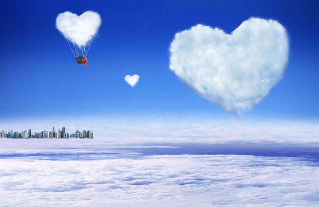 ppt背景圖片簡約大氣云朵