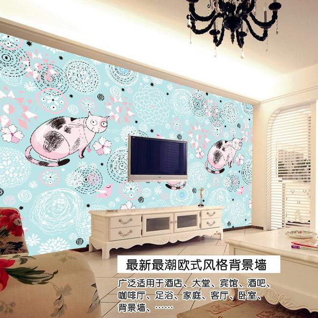 kt猫欧式电视背景墙-欧式背景墙-室内装饰|无框画
