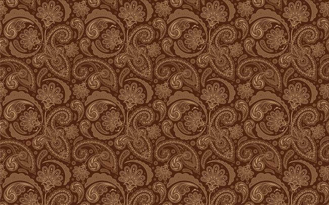 欧式古典花纹壁纸