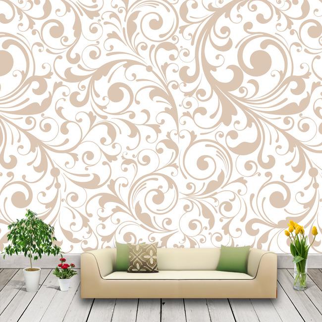文件详细参数描述 格  式:cdr 图片名称:欧式花纹壁纸图片