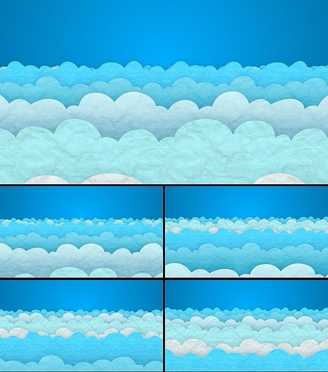 可爱的云朵卡通动画视频素材