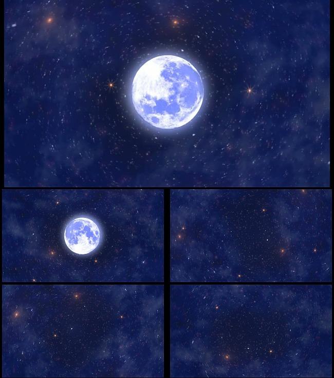 圆月亮星光晚会演出舞台大屏幕背景视频