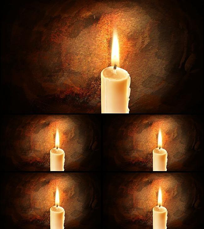 蜡烛燃烧动态视频