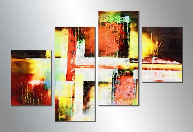 无框画拼画套画组合画抽象画