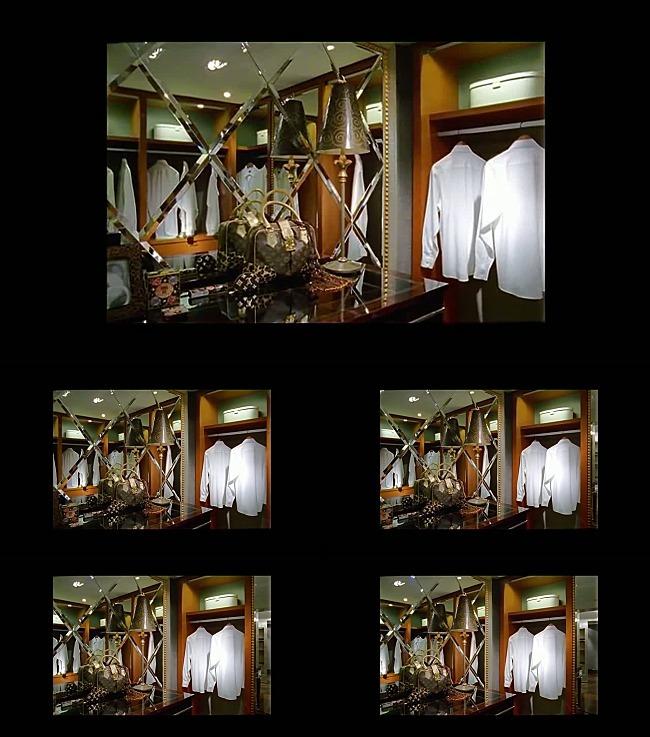 房地产衣柜更衣室视频