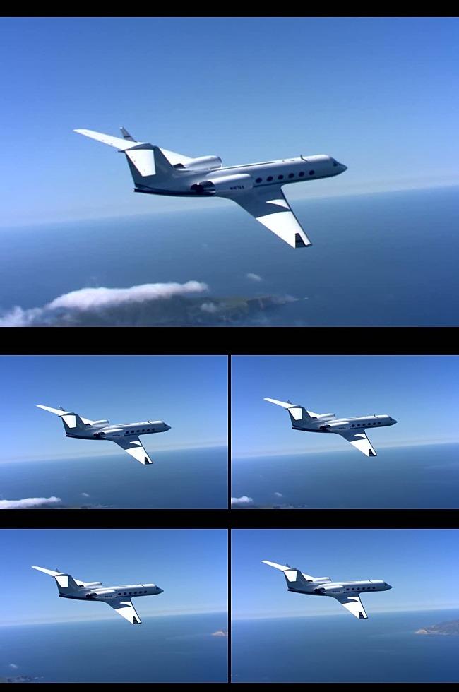 高清实拍飞机飞行视频