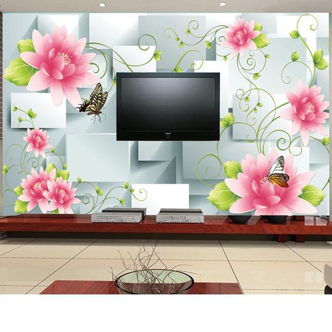 3d立体花藤电视背景墙模板-背景墙-室内装饰|无框画