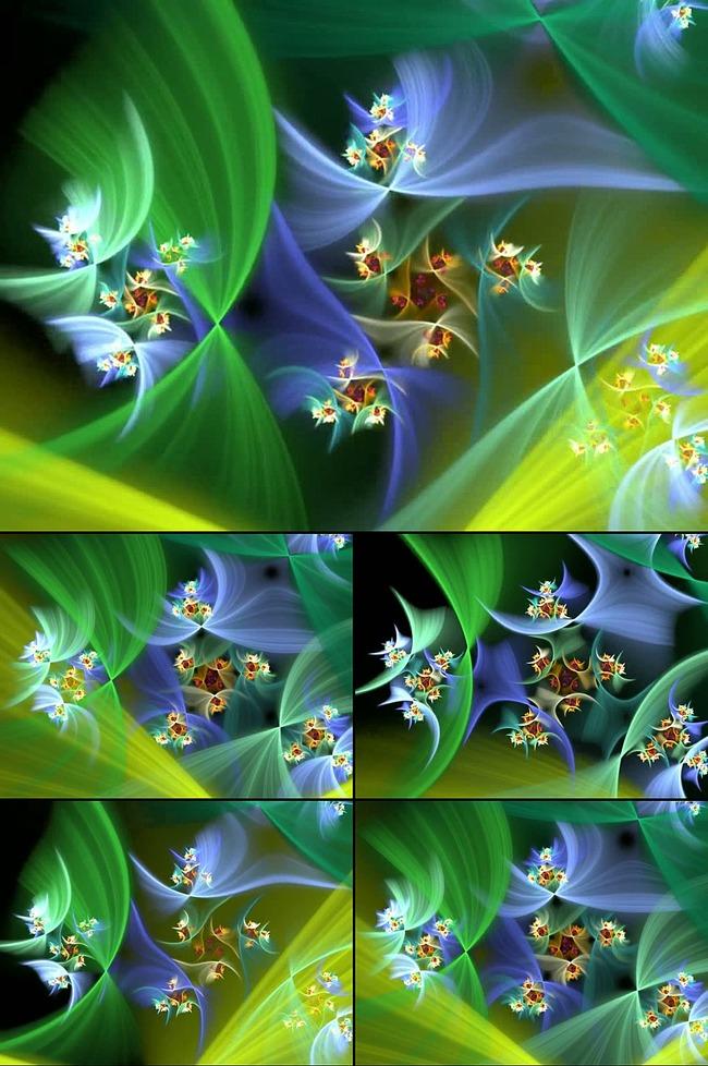 抽象光效炫彩花纹led背景视频