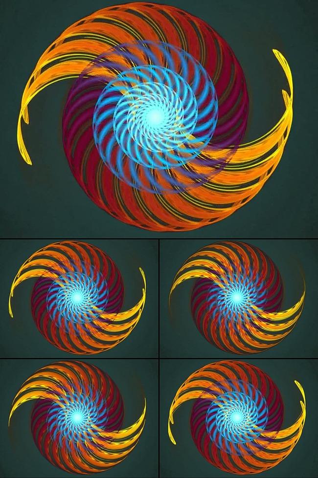 炫彩抽象光效花纹led背景视频