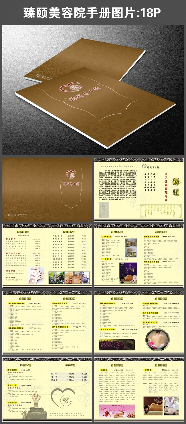 臻颐美容院手册图片-其它画册设计-企业画册|招商|房