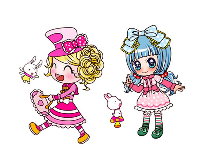 卡通女孩可爱女孩女孩子-卡通形象-插画|元素|卡通