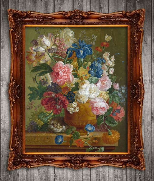 美丽的鲜花花卉古典主义油画-风景油画-油画