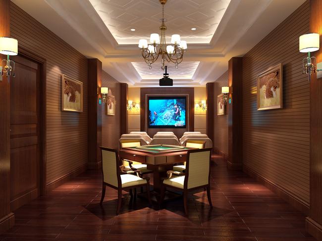 影视厅效果图3 室内设计 室内装饰 无框画 背景墙