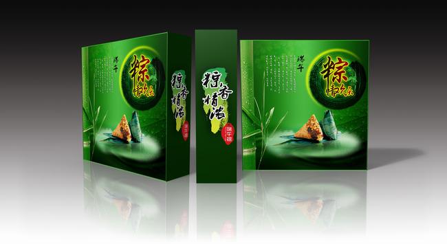 节日素材 绿色 包装 说明:粽子包装设计
