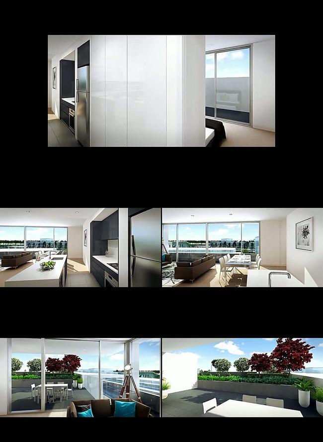 室内建筑装饰动画漫游视频素材