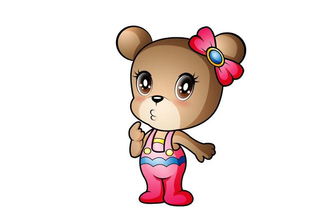 可爱小熊卡通形象psd分层源文件下载