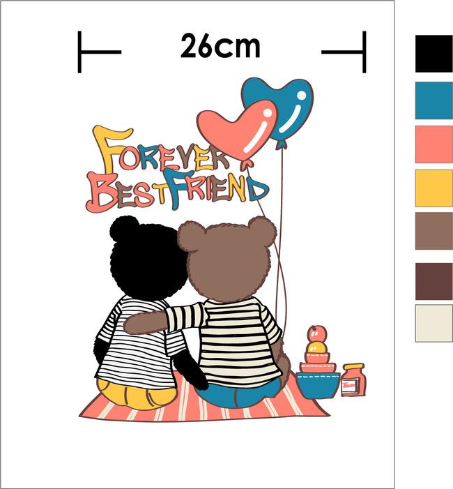 童装印花卡通可爱小熊ai矢量图高清素材