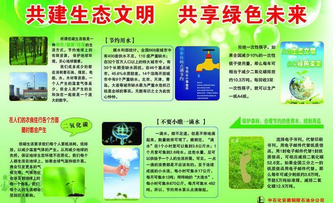 共建生态文明共享绿色未来宣传板-其他展板设计-展板