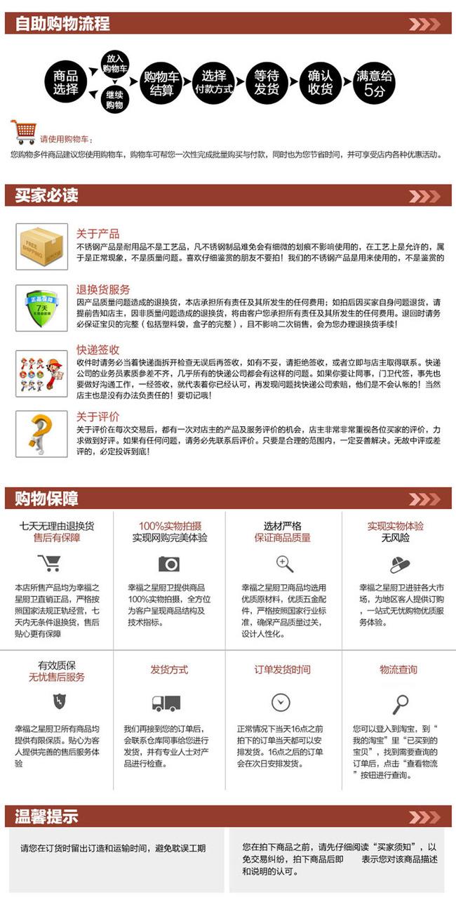 【psd】淘宝买家必读模板psd分层源文件