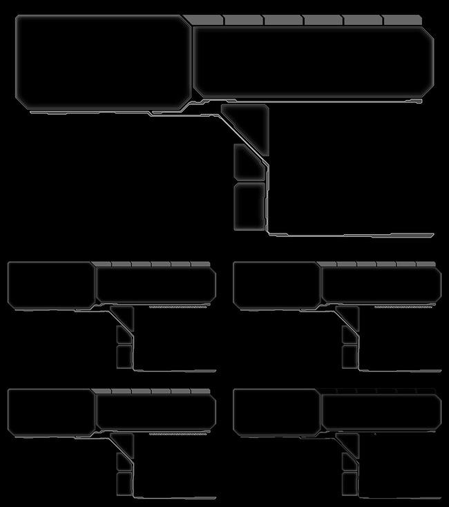 【mov】ae高科技感风格线框视频素材模板下载