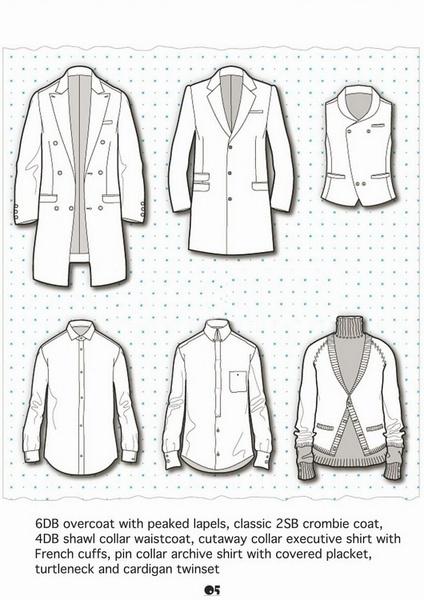 男装上衣手绘设计
