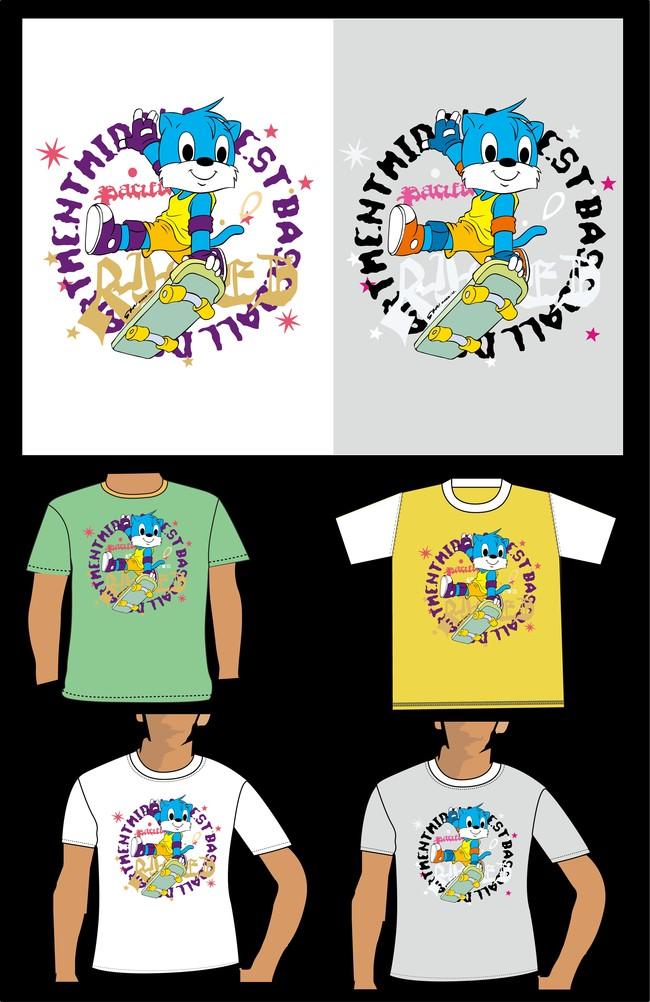 蓝猫卡通儿童t恤衫