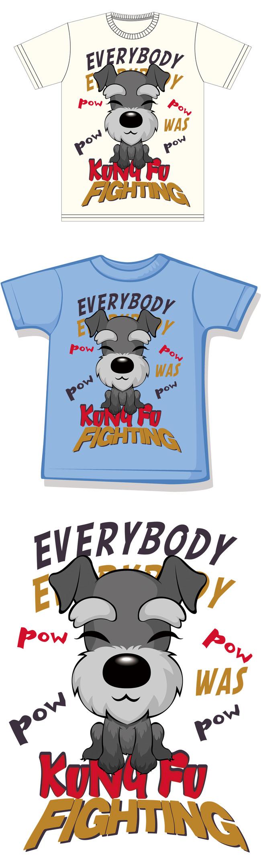 可爱狗狗儿童t恤图案-童装t恤-t恤设计