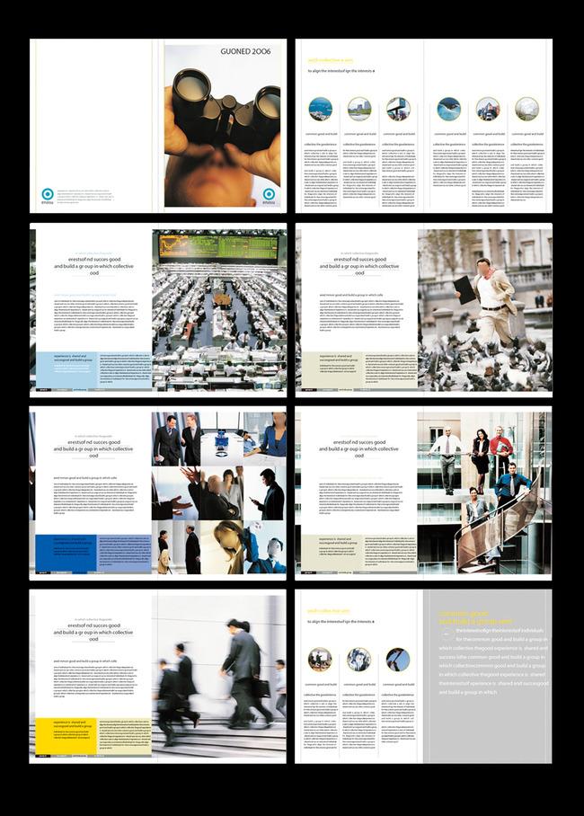 商务杂志画册模板下载