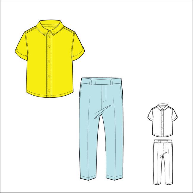 男装套装设计图片