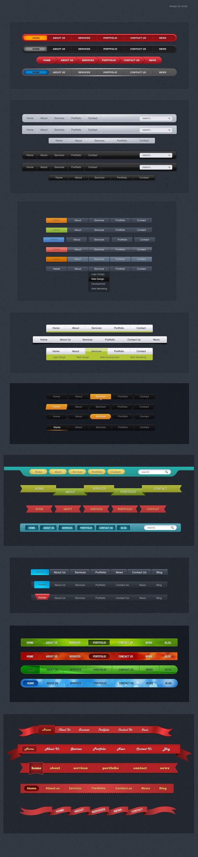 正版设计稿 网页设计模板 网站banner|网站广告条 >网页导航菜单栏
