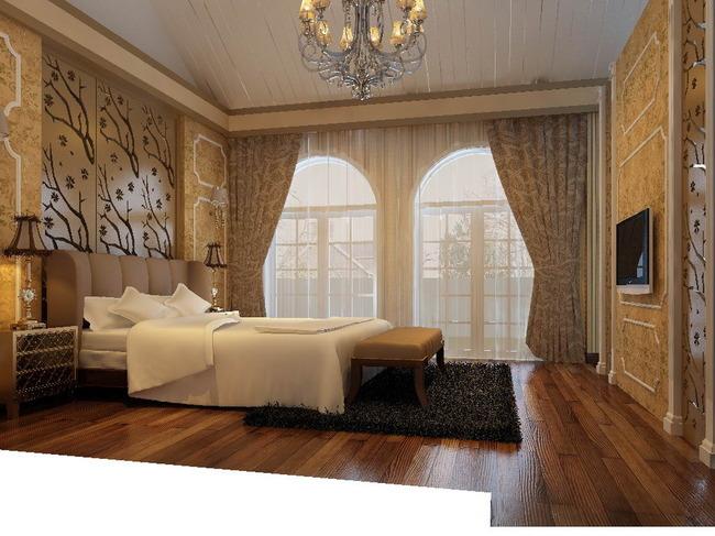 欧式风格卧室模型下载-室内模型-整套3d模型