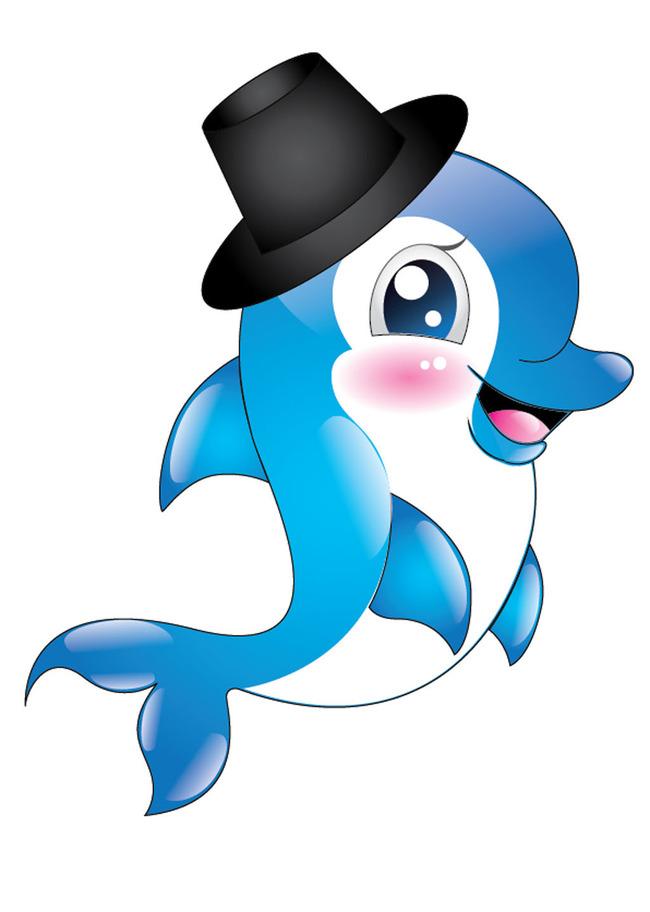 正版設計稿 圖案設計 動物圖案 >魚海豚卡通海豚動物可愛卡通企業吉祥