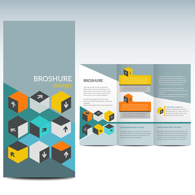 国外版式三折页设计-折页设计|模板-宣传单