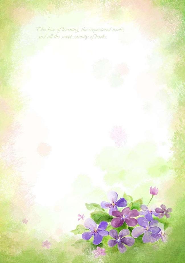 植物花草信纸背景