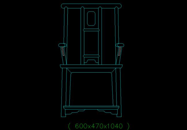 cad椅子立面图 椅子立面图 dwg椅子立面图 cad椅子图形 说明:中式