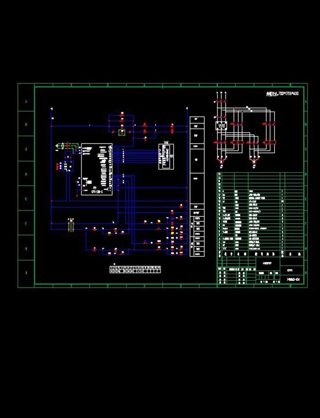 变频一拖二电气原理cad图纸